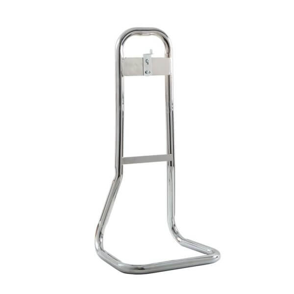 chrome single fire extinguisher stand