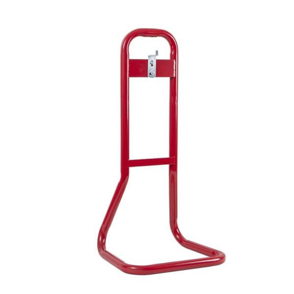 single fire extinguisher stand red