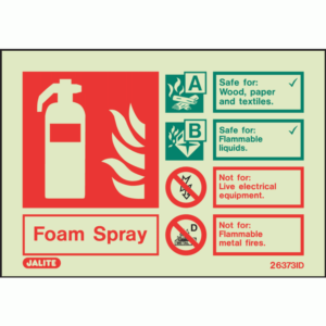 Fire Extinguisher Sign Foam Spray